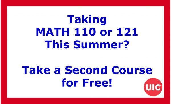 Taking MATH 110 or 121 This Summer? Take a Second Course for Free!